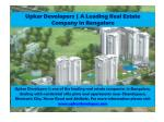 Upkar Developers | Real Estate Companies in Bangalore