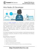 Hire Node.JS Developer | Node.JS Development Company in India