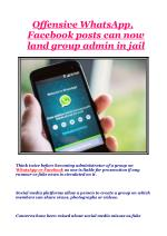 Offensive WhatsApp, Facebook posts can now land group admin in jail