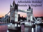 Affordable home rental in England with Kingdom of rentals