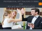 Professional NDT Training Courses for PCN and ASNT Certification