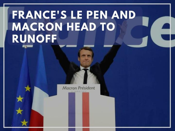 france s le pen and macron head to runoff n.
