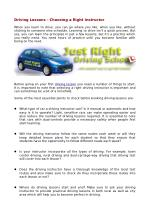 Driving Lessons – Choosing a Right Instructor