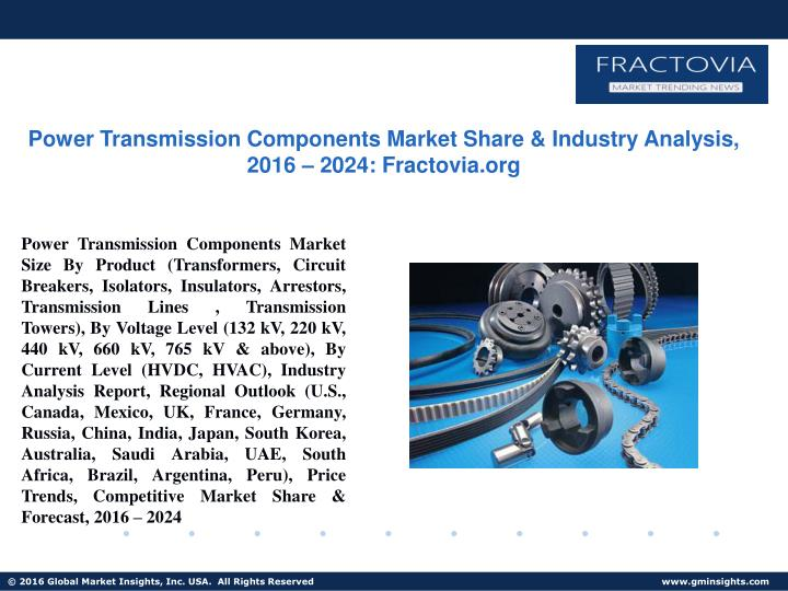 power transmission components market share n.