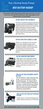 Top 5 Backup Sump Pumps