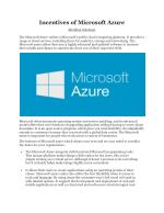 Incentives of Microsoft Azure