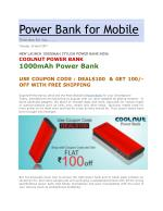 COOLNUT 10000mAh Best Power Bank Portable Charger, MADE IN INDIA (Red/Black)