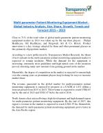 Multi-parameter Patient Monitoring Equipment Market is expanding at a CAGR of 4.4% from 2015 - 2023