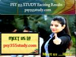 PSY 355 STUDY Exciting Results - psy355study.com