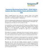 Respiratory Monitoring Devices Market will rise to US$ 2.79 Billion by 2023
