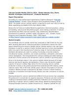 Calcium Carbide Market 2016 to 2024 – Global Industry Size, Share, Growth, strategies and Forecast – Credence Research