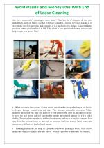 Top Notch End of Lease Cleaning Services Sydney