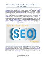 Best & Reliable SEO company | YourSEOPick