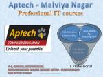 Best IT training provided by Aptech Malviya Nagar Institute