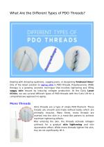 What Are the Different Types of PDO Threads?