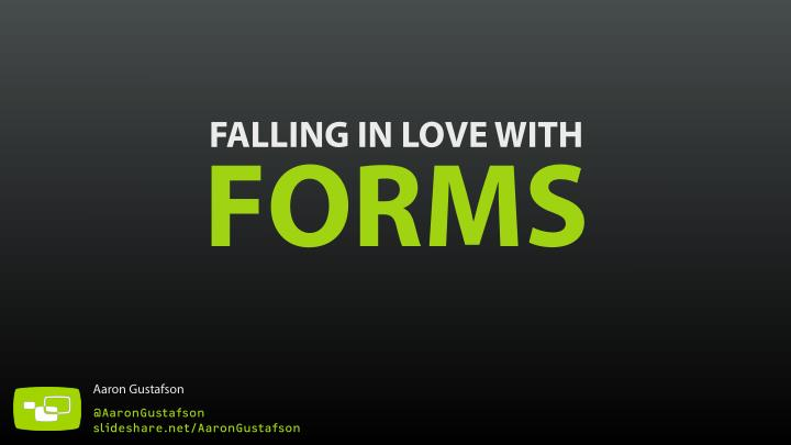 falling in love with forms n.