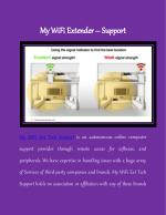 My WiFi Extender Support
