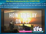 The Sims Evaluation for the COMPUTER