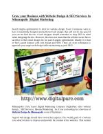 Grow Your Business with Website Design & SEO Services In Minneapolis