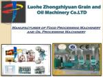 Manufacturer of Food Processing Machinery and Oil Processing Machinery
