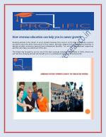 Prolifi COverseas - How overseas education can help you in career growth