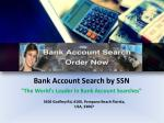 Bank Account Search by SSN