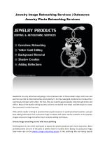 Jewelry Image Retouching Services | Outsource Jewelry Photo Retouching Services