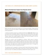 FEW THINGS TO CONSIDER BEFORE AND AFTER CARPET CLEANING
