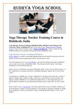 200 Hour Yoga Therapy Teacher Training Course in Rishikesh India