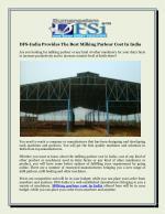 DFS-India Provides The Best Milking Parlour Cost In India
