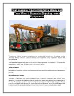 Heavy Equipment Transportation Services