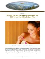 How the Use of a Far-Infrared Sauna with Low EMF Levels Can Safely Reduce Pain
