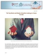 The Top Wants and Needs of Families Looking at a Home for Sale