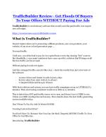 TrafficBuilder review and (FREE) $12,700 bonus-- TrafficBuilder Discount