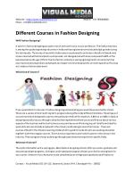 Fashion Designing Courses in Chandigarh
