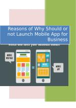 Reasons of Why Should or not Launch Mobile App for Business