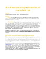 Hire Minneapolis airport limousine for comfortable ride