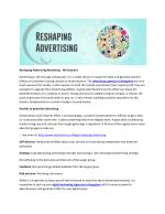 Reshaping Advertising Marketing - IM Solutions
