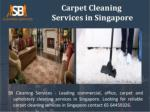 Contact for carpet cleaning specialists Singapore