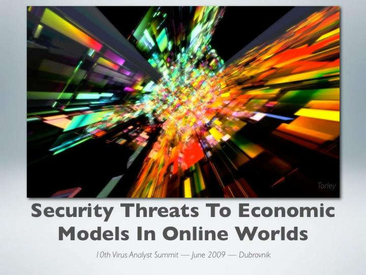 security threats to economic models in online n.