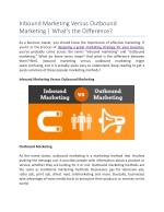 Inbound Marketing Versus Outbound Marketing | What's the Difference?