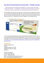 Buy Generic Erectile Dysfunction Drugs Online – Reliable Canadian