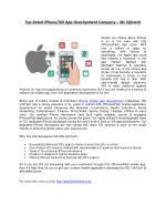 Hire i-Phone Developers from IBL Infotech