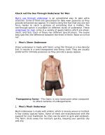 Check out the See Through Underwear for Men