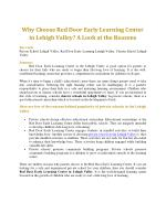Why Choose Red Door Early Learning Center in Lehigh Valley? A Look at the Reasons