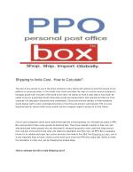 Shipping to india | PPOBox(Personal Post Office)