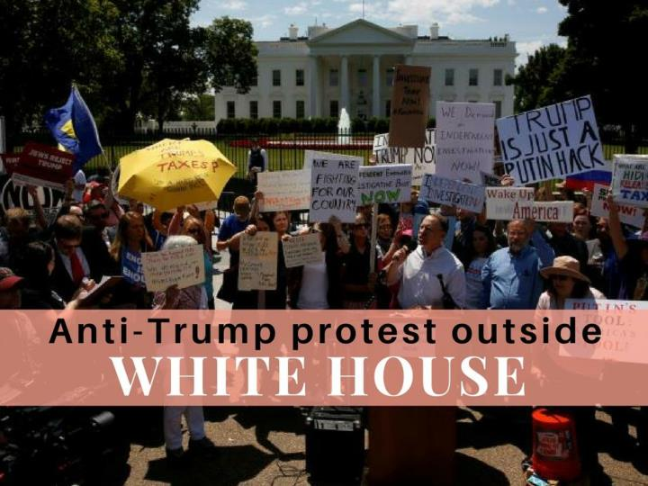 anti trump protest outside white house n.