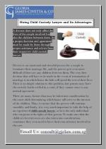 Hiring Child Custody Lawyer and Its Advantages