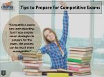 18 Tips to Prepare for Competitive Exams