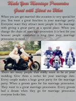 Make Your Marriage Procession Great with Stunt onBikes